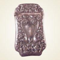 Vintage Sterling Match Safe/Vesta/Repousse