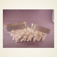 Vintage pr. Sterling Deco Style Napkin Rings