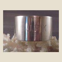 Vintage British Sterling Napkin Ring/Edward Viner