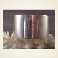 Vintage British Sterling Napkin Ring/Edward Viner