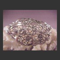 Vintage Sterling Danecraft Flower pin