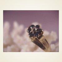 10k Sapphire/Diamond Ring