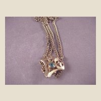 Vintage GF Chain/Slide/Blue Stone