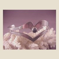 Mexican Sterling Cuff/Onyx