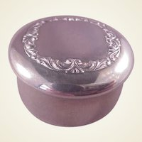 Vintage Sterling Pill Box/F & B in Flag
