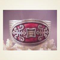 Vintage SP Chinese Style Cuff Bracelet