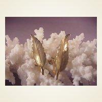 Vintage Tiffany & Co Vermeil Leaf earrings/screwbacks
