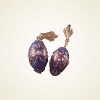 Beautiful Venetian clip Earrings