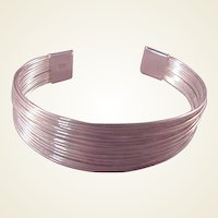 Sterling Silver Cuff Bracelet/Slinky Style