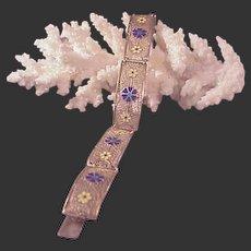 Vintage Filigree & Vermeil & Enamel Bracelet