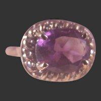 Vintage 10k Amethyst & Diamond Ring