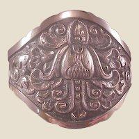 Vintage 800 Silver Ornate Cuff