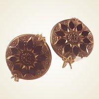 Victorian GF & Onyx Earrings