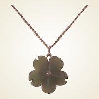 Vintage Green Jade/GF Pendant/chain
