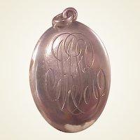 Vintage Sterling Oval Locket/Initials