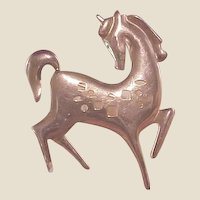 1950's Modernist GF Horse Pin/James H. Hall