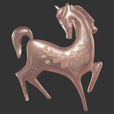 1950's Modernist GF Horse Pin/James H. Hall