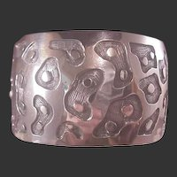 Mexican Sterling large Modernist Cuff