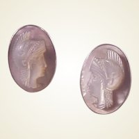 Vintage Sterling Abalone/MOP  Cufflinks/Neo-Classical