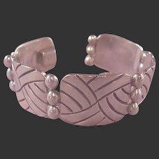Super Mexican Sterling Modernist Link Bracelet