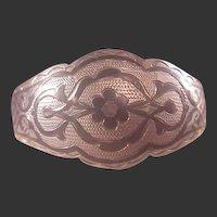 Vintage Sterling/Onyx Inlay Cuff Bracelet