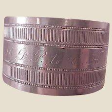 Vintage Gorham Sterling Napkin Ring/initials