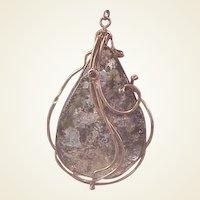 Unusual GF Modernist Artisan Art Glass Pendant/chain