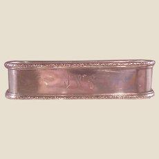 Vintage Lunt Sterling Napkin Ring /JWS