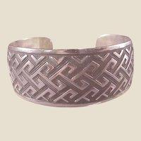 Mexican Sterling Modernist Cuff Bracelet