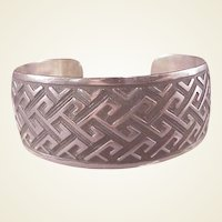 Mexican Sterling Modernist Cuff Bracelet