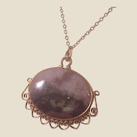 Wonderful Vintage G.F. Picture Agate pendant/Chain