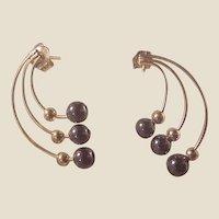 14k Hematite Earrings/Posts