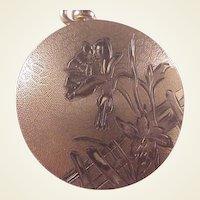 Vintage Gold Filled Rd. Locket/Flower/Fence