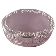 Vintage Oval English Pill Box/1890/Eliza Inside