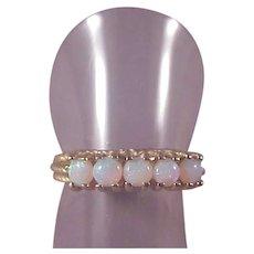 14k Opal Band/5 Opals