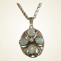 14k Opal Pendant/10k Chain