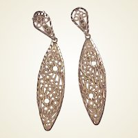 Lovely 14k Filigree Drop Earrings