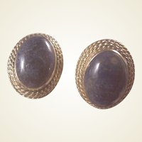 Estate 14k Lapis Earrings
