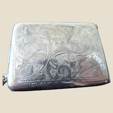 Vintage English Sterling Silver Chased Match Case