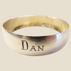 Vintage Webster Sterling Napkin Ring/Dan