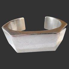 Vintage Mexican Sterling Silver Los Ballesteros Cuff Bracelet
