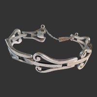 Vintage Serafin Moctezuma Mexican Sterling  Bracelet