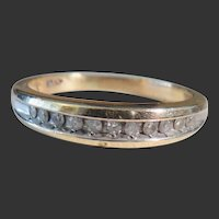 Vintage 10k Diamond Band/size 8