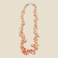 Vintage Estate GF Red/ Orange  Branch Coral Necklace