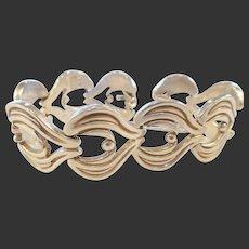 Vintage Estate Mexican Sterling Silver Bracelet/signed J.J.