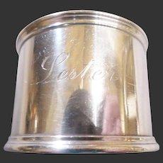 Vintage Estate Towle Sterling Napkin Ring/Lester