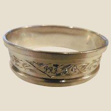 Vintage English Sterling Napkin Ring