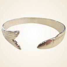 Estate Sterling Fish Cuff Bracelet