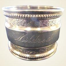 Vintage Sterling Napkin Ring/Mildred