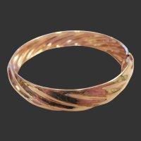 Estate Rose Gold Vermeil Spiral Bangle Bracelet